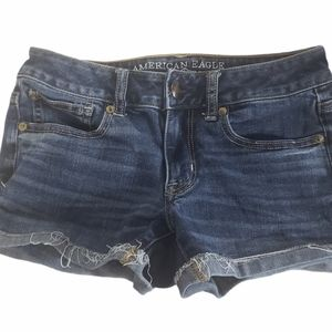 AMERICAN EAGLE SHORTIES JEAN SHORTS SIZE 2